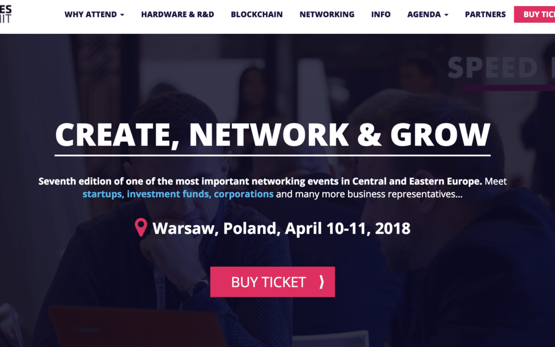 Cancer Center team on STARTUPS SEMI-FINALS at Wolves Summit in Warsaw; 10.04.2018